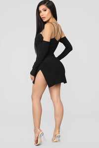 Highlight Of My Day Mini Dress - Black Angle 5