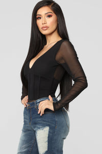 How Are You True Bodysuit - Black