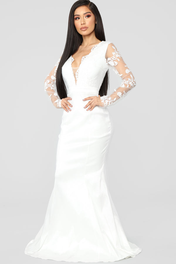 90a46b6cef0f Macy Lace Gown - White