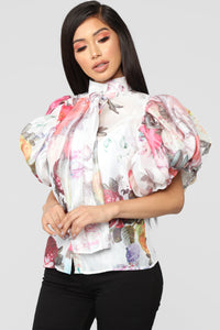 Bring Me Flowers Top - White