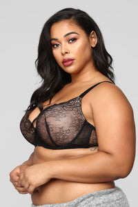 Seeing Double Bra Set - Black/Multi