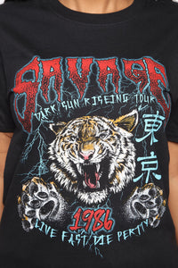 Roar House Top - Black