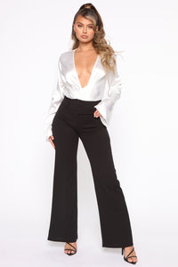 Tabitha Belted Pants - Black Angle 1