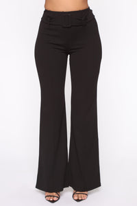 Tabitha Belted Pants - Black Angle 2