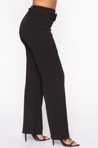 Tabitha Belted Pants - Black Angle 4