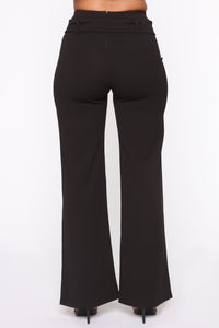 Tabitha Belted Pants - Black Angle 6