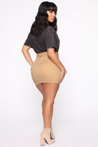 Army Brat Cargo Mini Skirt - Tan Angle 6