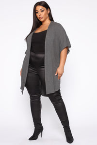 Just Let Loose Jacket - Charcoal