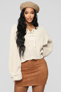 Just So Into You Sweater - Taupe Angle 1