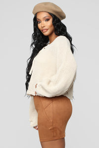 Just So Into You Sweater - Taupe Angle 3