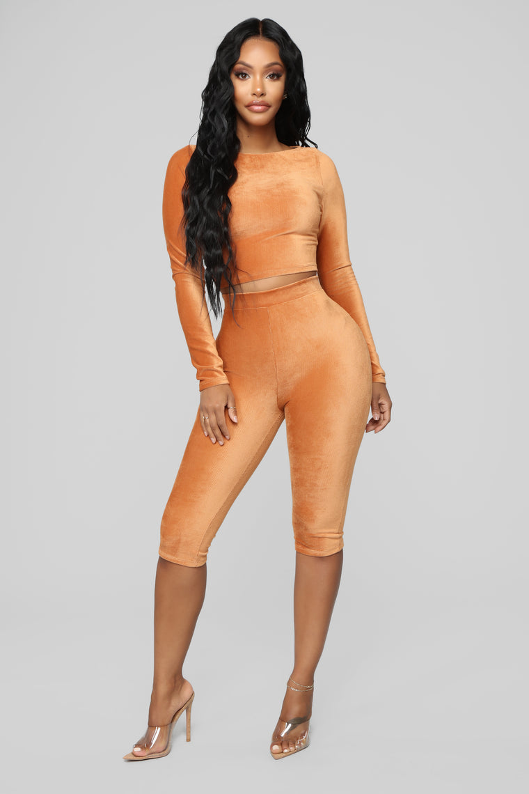 Cut The Corduroy Set - Cognac