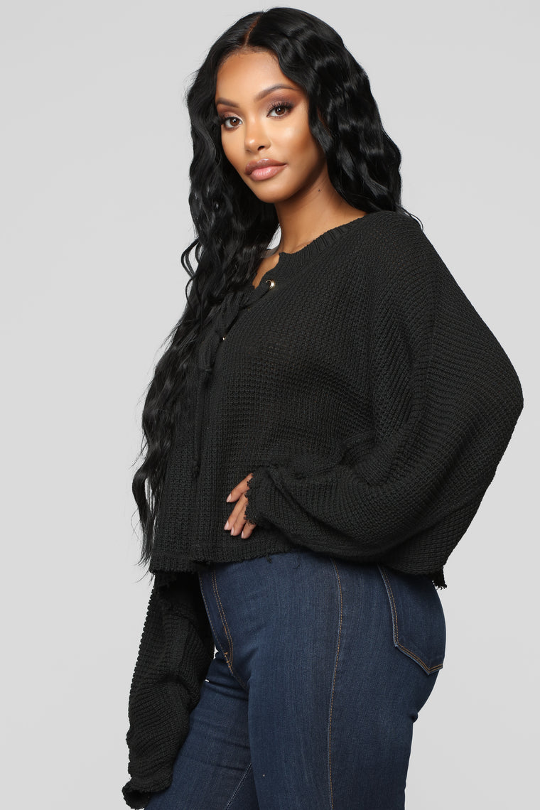 Just So Into You Sweater - Black