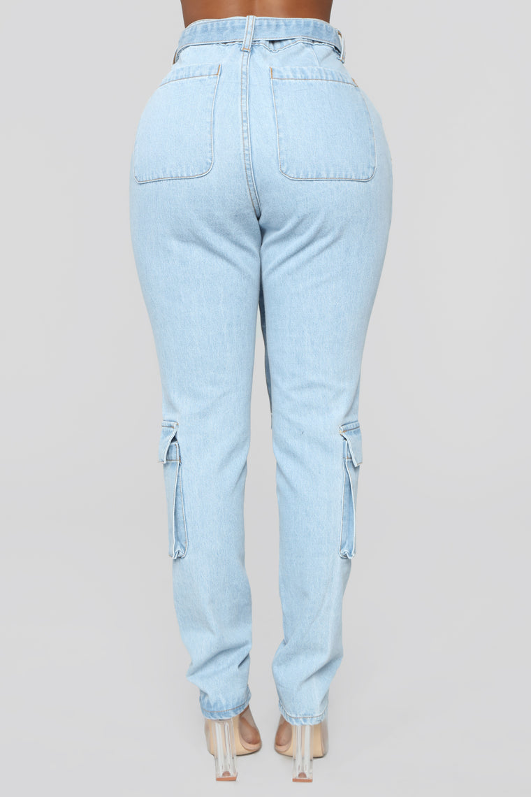 Life As We Know It Boyfriend Jeans - Light Blue Wash