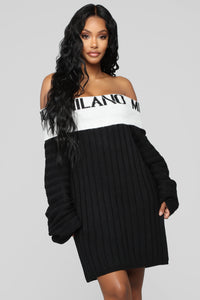 Going To Milan Sweater - Black/White
