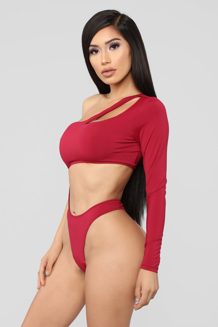 Make A Decision Swimsuit - Burgundy