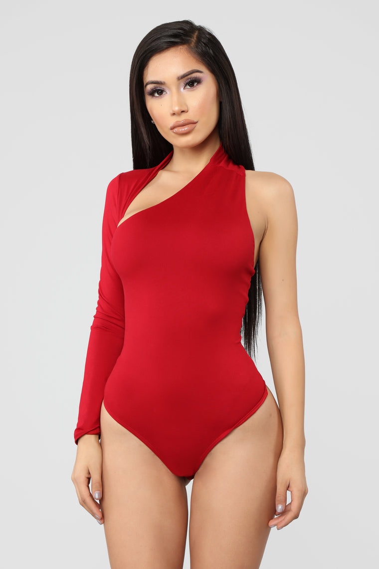Give You All My Love Bodysuit - Ruby