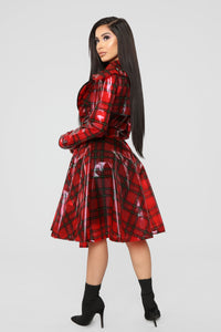 Keep It Undercover Trench Coat - Red Angle 6