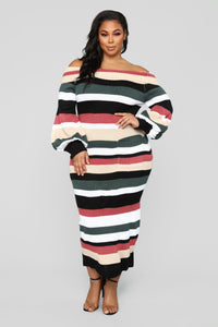 Nylah Stripe Dress - Black/Multi Angle 6