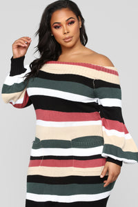 Nylah Stripe Dress - Black/Multi Angle 7
