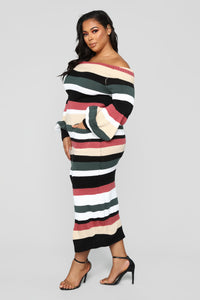 Nylah Stripe Dress - Black/Multi Angle 8