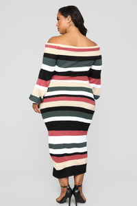 Nylah Stripe Dress - Black/Multi Angle 9