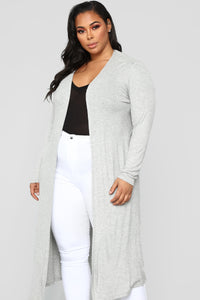 Back To You Cardigan - Heather Grey