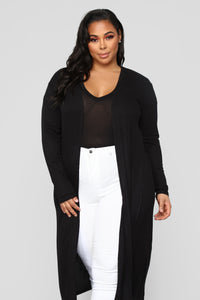Back To You Cardigan - Black Angle 6