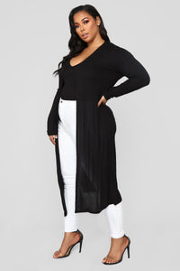 Back To You Cardigan - Black Angle 7