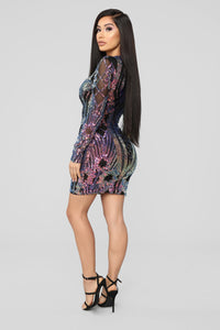 Only Girl In The World Sequin Dress - Black Angle 4