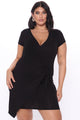 Eileen Wrap Dress - Black