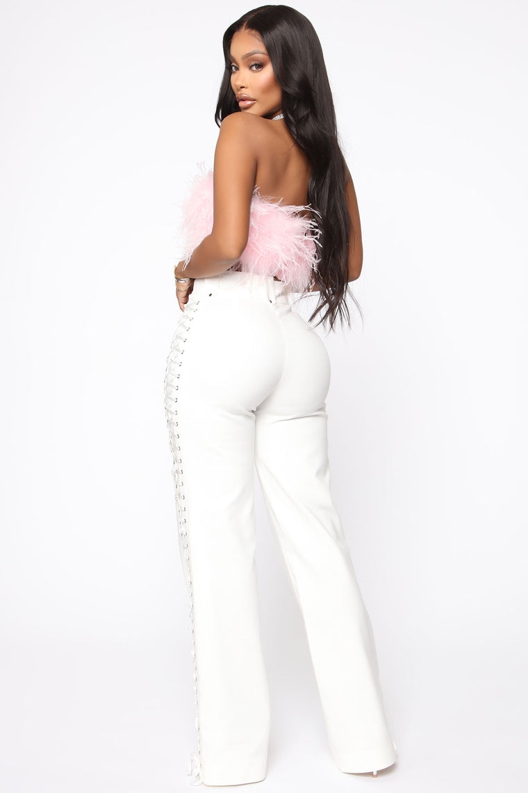 Lace By Lace Pants - White