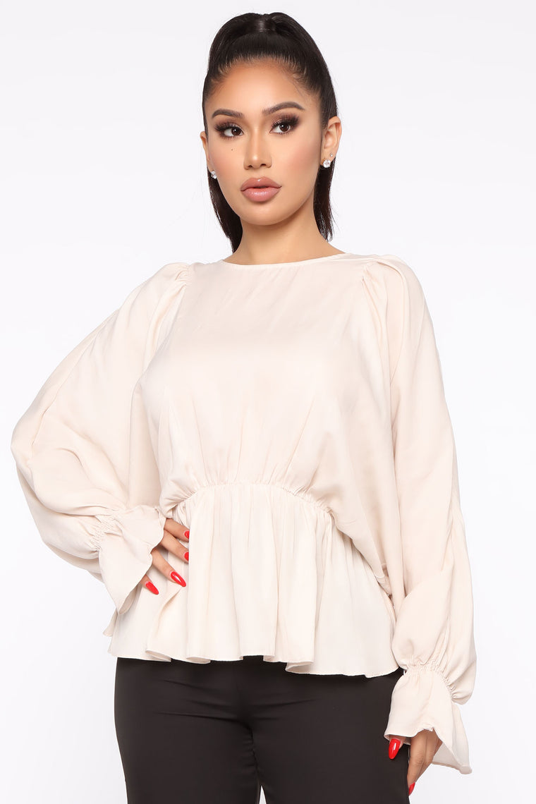 Just The Beginning Tie Back Top - Cream