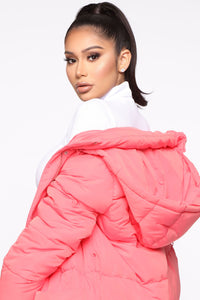 No Problems Here Puffer Jacket - Pink