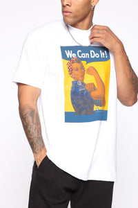 We Can Do It Short Sleeve Tee - White/Combo Angle 1