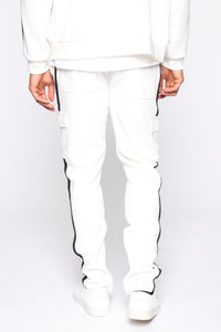 Post Cargo Track Pants - White/Combo Angle 5