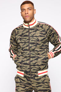 Connor Track Jacket - Camouflage Angle 1