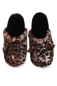 Lil Kitty Slippers - Brown Angle 2