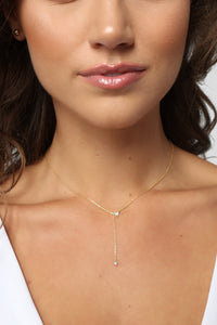 Marry It Lariet Necklace - Gold