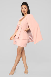 Meet On The Met Steps Cape Set - Blush Angle 3