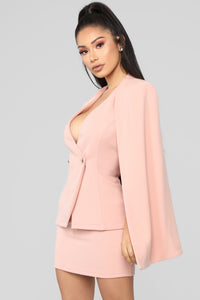Meet On The Met Steps Cape Set - Blush Angle 4