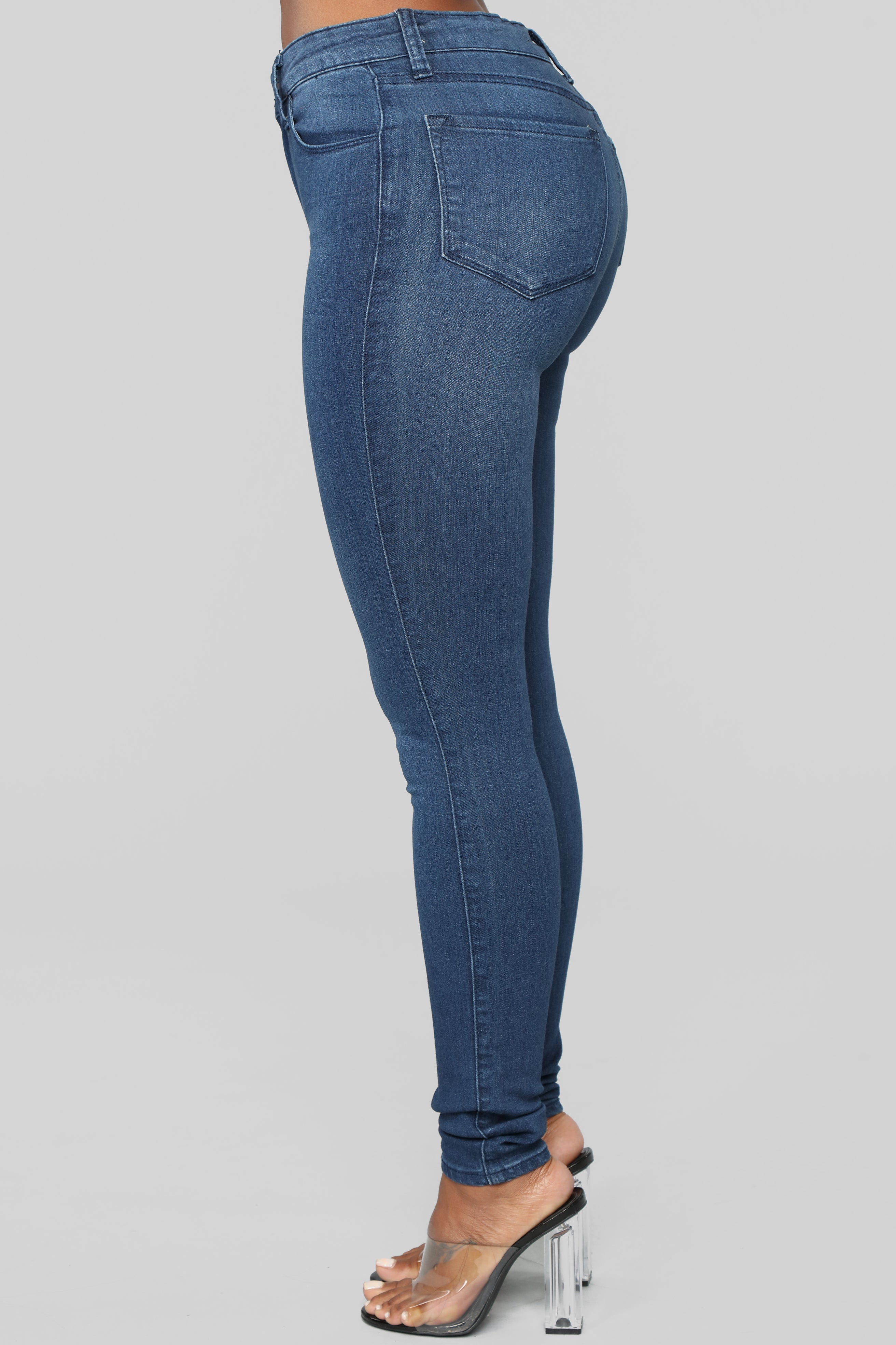 d167bbe4ad930 Luxe Glam High Waist Skinny Jeans - Dark