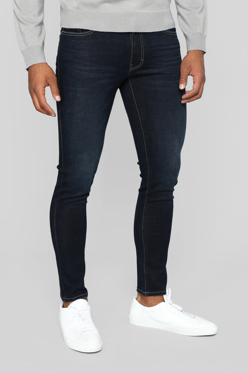 Steer The Game Skinny Jeans - Dark Wash