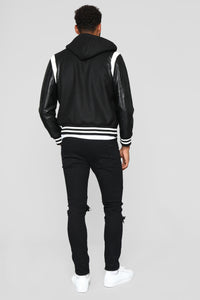 Friday Night Lights Varsity Jacket - Black