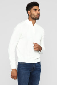 Donovan Mock Neck Sweater - Cream