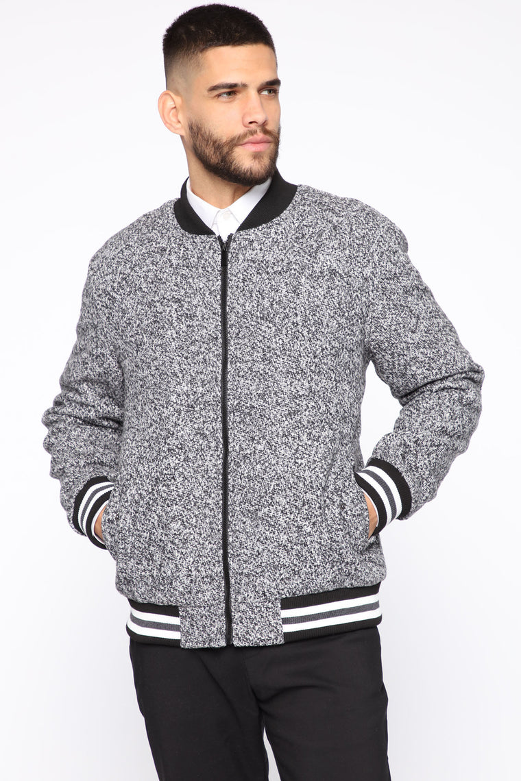 Grind To Hustle Varsity Jacket   Grey by Fashion Nova