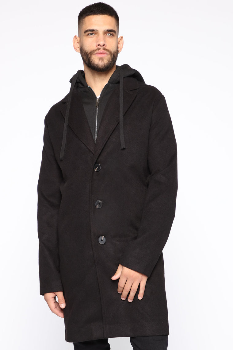 I'm On A New Level Car Coat - Black/Black