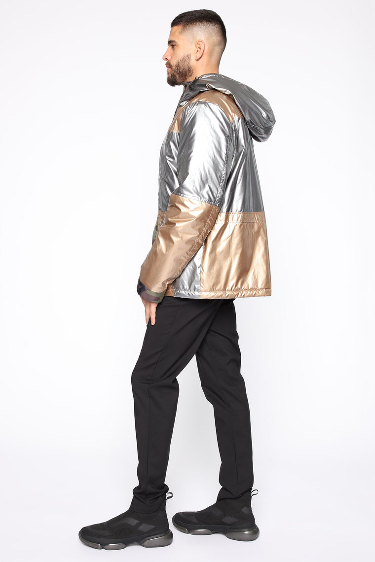 No Clout Chasin Jacket - Silver/Multi