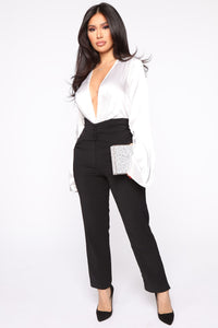 Finding Time High Waist Trousers - Black Angle 1