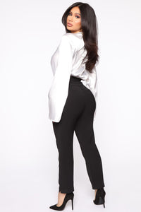 Finding Time High Waist Trousers - Black Angle 5