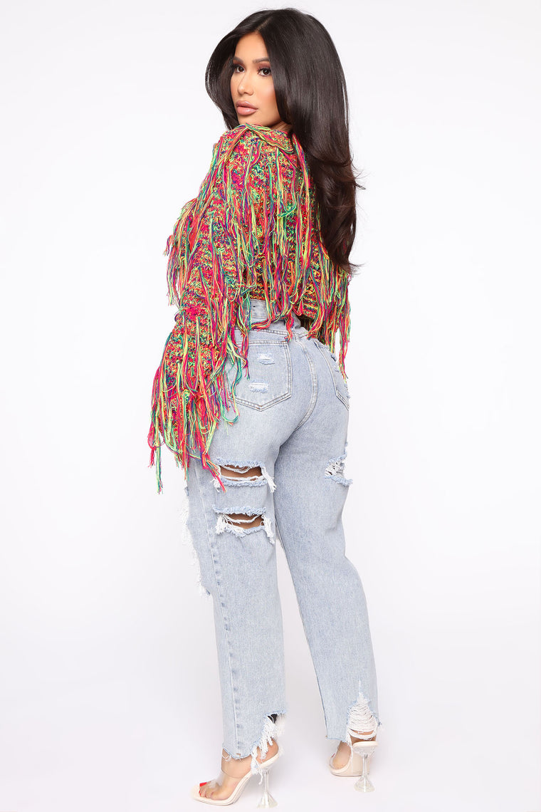 Better Together Cropped Sweater - Multi